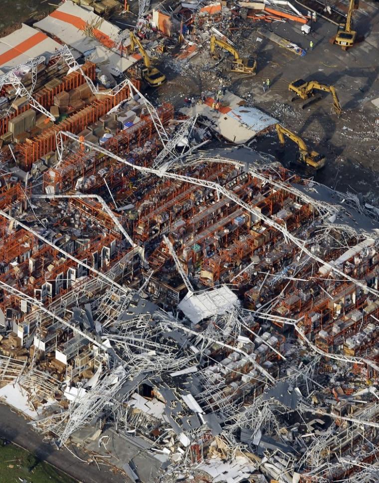 Image: Heavily damaged Home Depot in Joplin