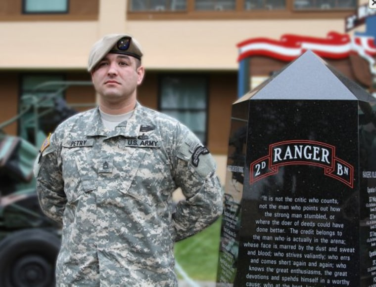 Sgt. 1st Class Leroy Arthur Petry still serves in the Army.