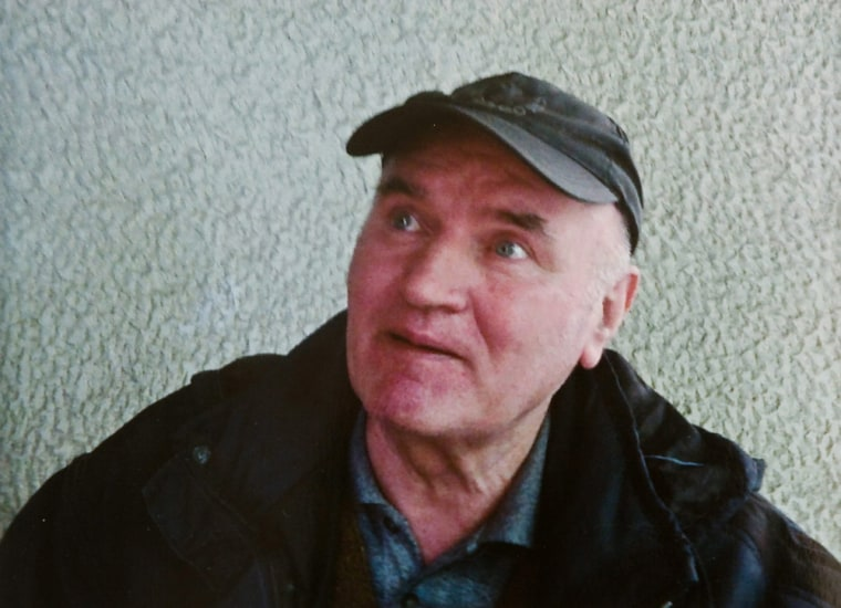 Image: Bosnian Serb army commander Ratko Mladic, who was arrested, May, 26. 2011 in Serbia after years in hiding.