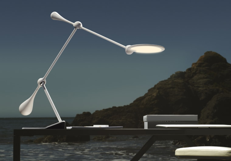 Joby's stylish Trapeze lamp uses a series of spherical aluminum joints to make its arm position malleable.