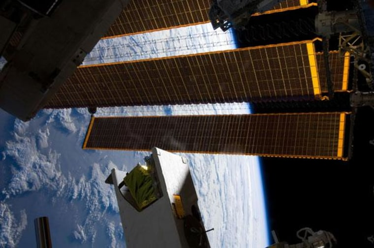 A view of the Hyperspectral Imager for Coastal Oceans (HICO) and Remote Atmospheric and Ionospheric Detection System (RAIDS) Experiment Payload (HREP) installed on the Japanese Experiment Module of the International Space Station.
