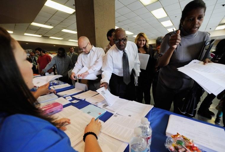 Image: LA Mission Holds Skid Row Job Fair