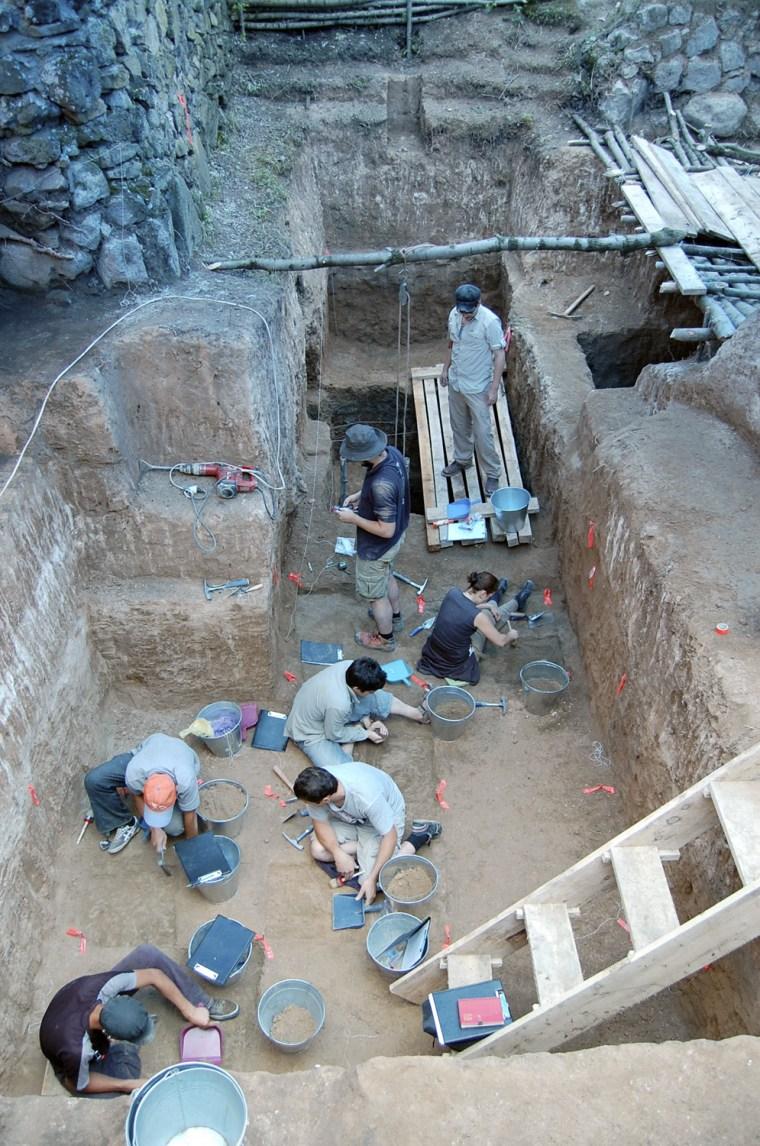 Image: Dmanisi excavation site in the Republic of Georgia