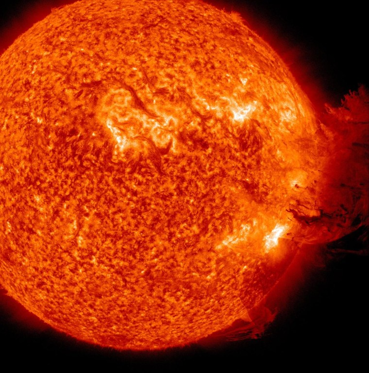 A coronal mass ejection as viewed by the Solar Dynamics Observatory on June 7.