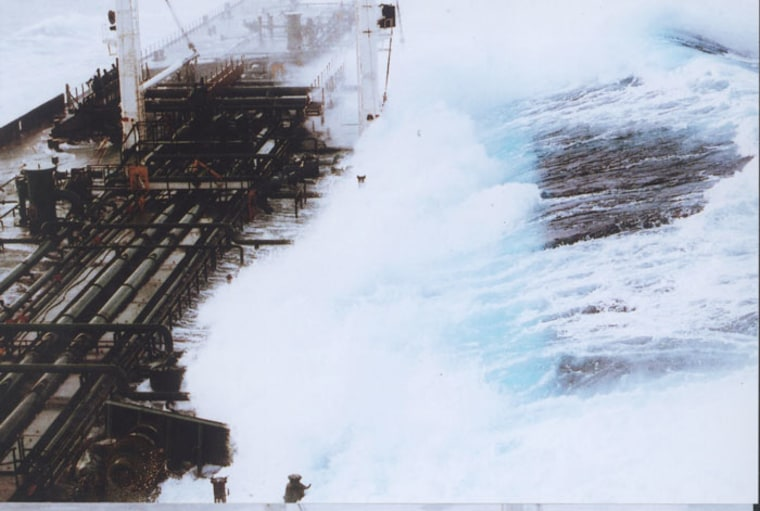 A rogue wave reaching a height of 60-plus feet hit a tanker headed south from Valdez, Alaska, in February 1993. The ship was running in about 25-foot seas when a monster wave struck it broadside on the starboard side.