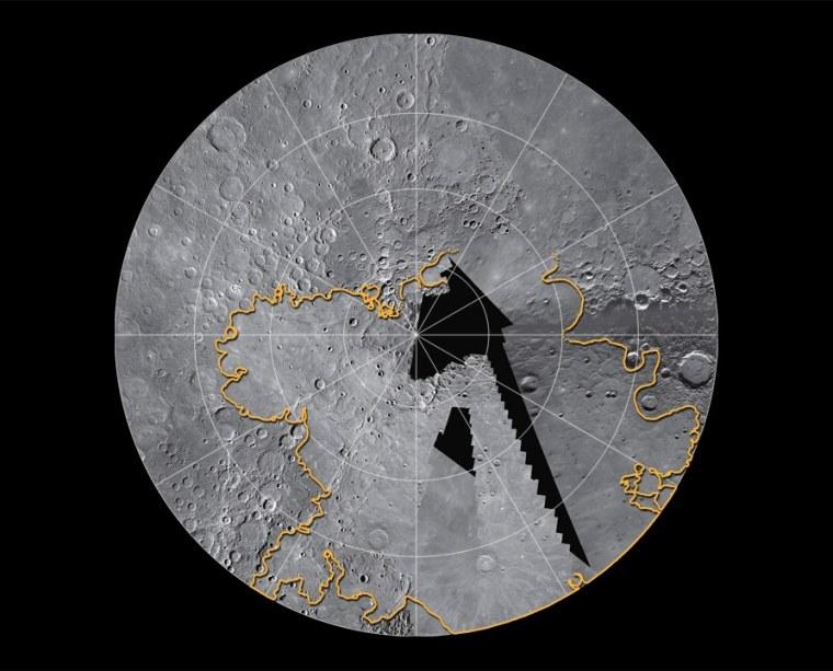 Image: North polar region of Mercury