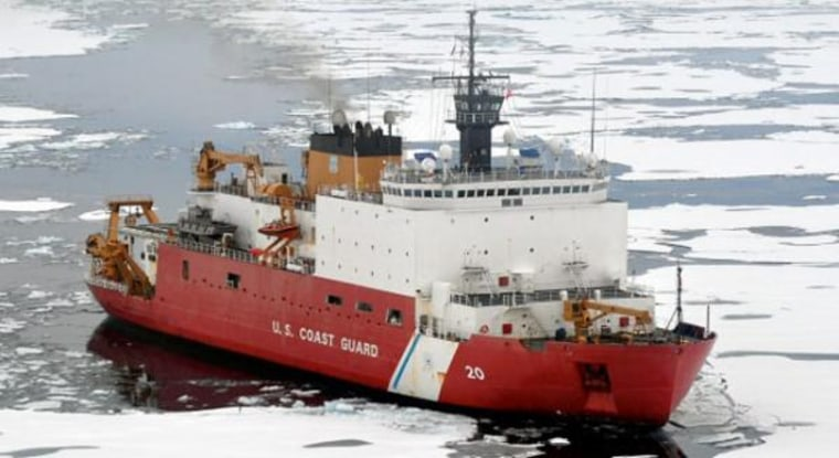 All aboard! This U.S. Coast Guard icebreaker is ready to set sail to the Arctic.