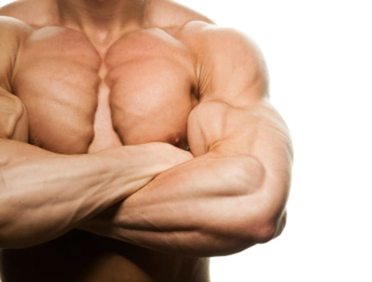 A genetic mutation has been found to double or even triple muscle mass of mammalsand fish. One German boy with the mutation,before he was 5 years old,could hold 7-pound weights with arms extended, something many adults can't do.