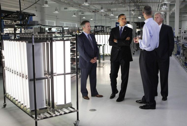 Image: Barack Obama, Chuck Swoboda, Jeff Immelt, Matthew K. Rose