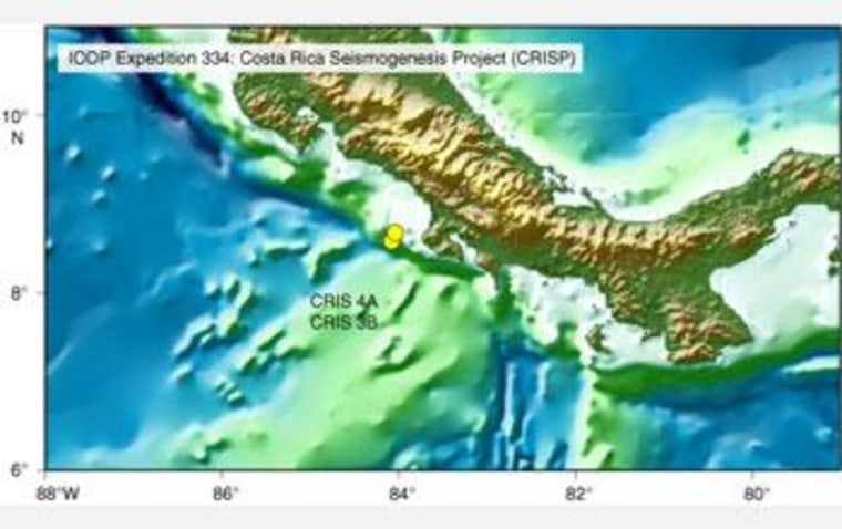 The CRISP research site is located 108 miles off Costa Rica.