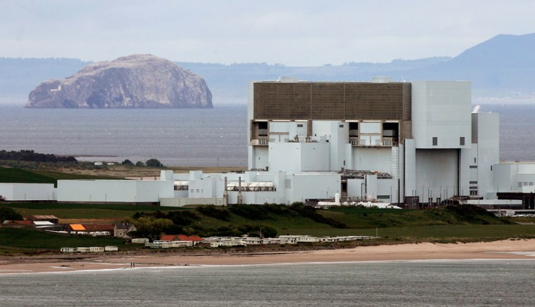 A general view of Torness nuclear power station near Edinburgh in Scotland.