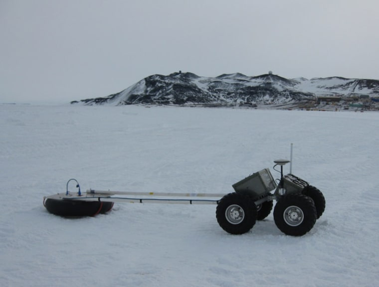 This autonomous four-wheeled vehicle is designed to cruise Earth's polar regions.