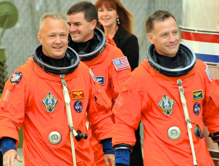 The incoming class of astronauts will find their training much different than is was for these space shuttle Atlantis astronauts.