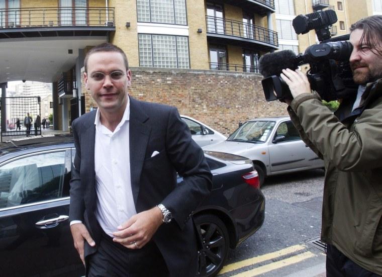 Image: News International Chairman James Murdoch arrives at News International in London