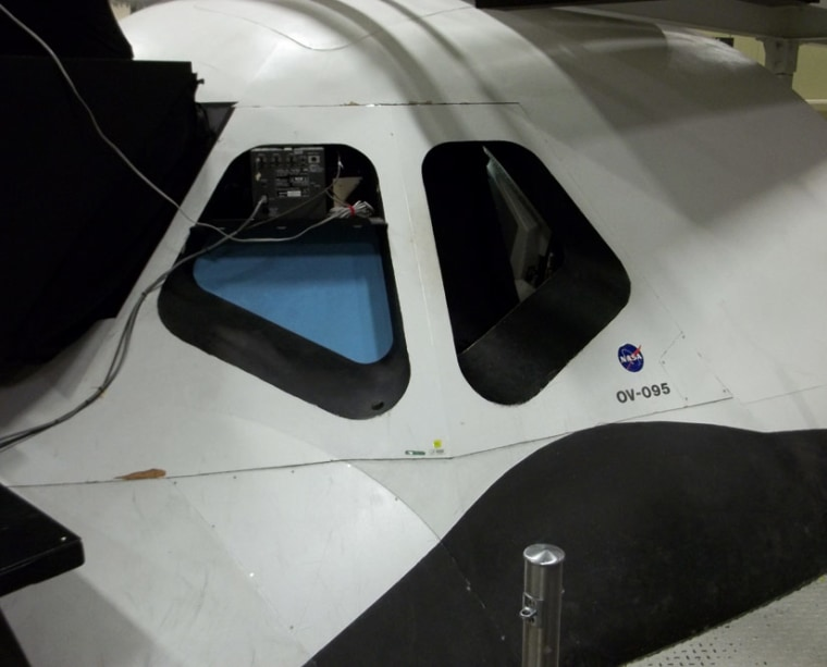 OV-95 is like a shuttle without its skin, with every wire and electrical box exposed.