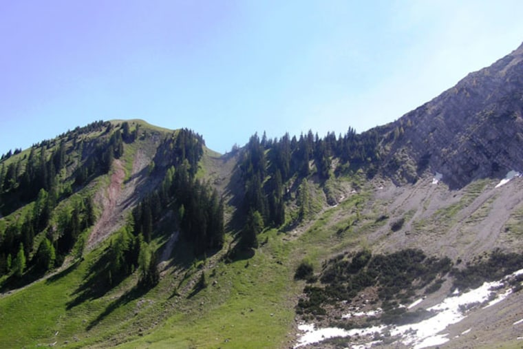 This is the location in the Northern Calcareous Alps (Austria), where sediments for this study were collected.