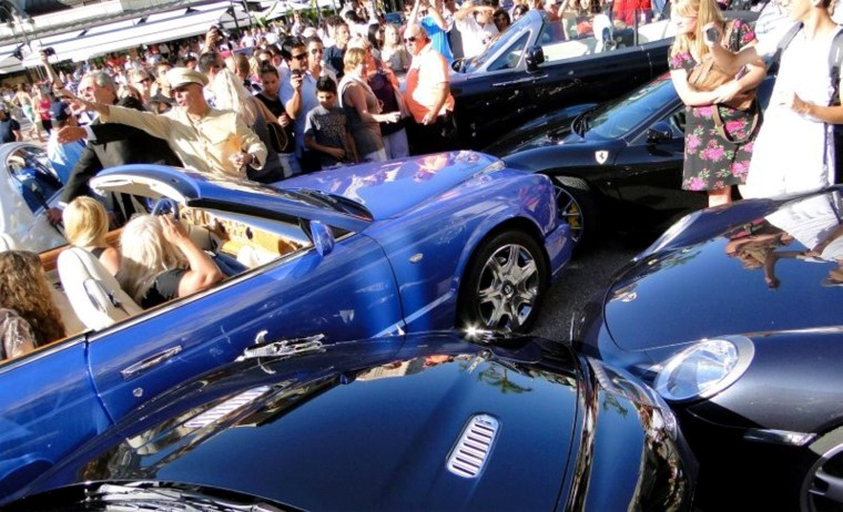 Image: A hapless driver crashed her Bentley into four other luxury cars in Monaco.