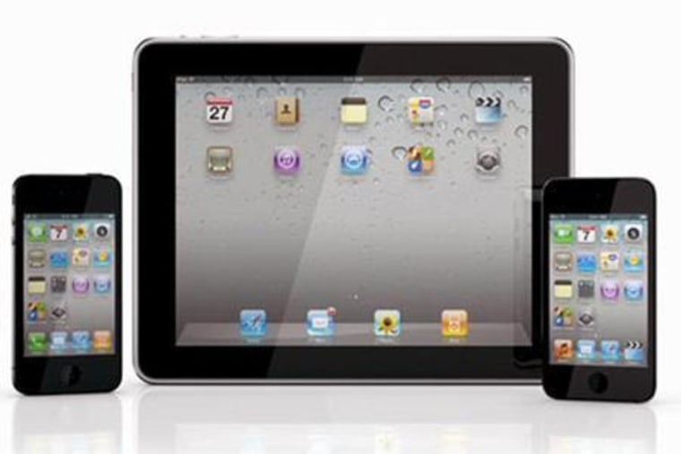 Apple's iPod Touch, iPad and iPhone 4. Increasingly, personal electronics have motion sensors within them known as accelerometers. Laptops have them to detect if they are failing to prep their systems tominimize hard-drive damage; iPhones, iPads and other smartphones and tablets have them to detect which way is up to align their displays.