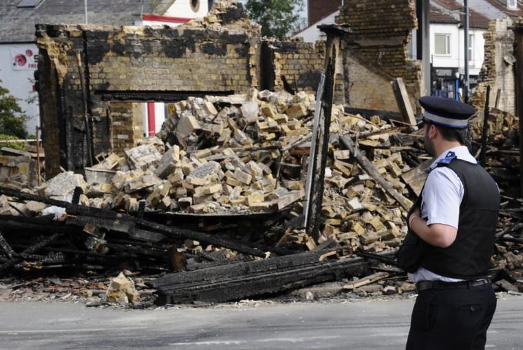 Image: UK riot damage