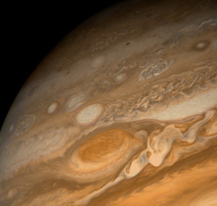 Image: Close-up of Jupiter's Great Red Spot