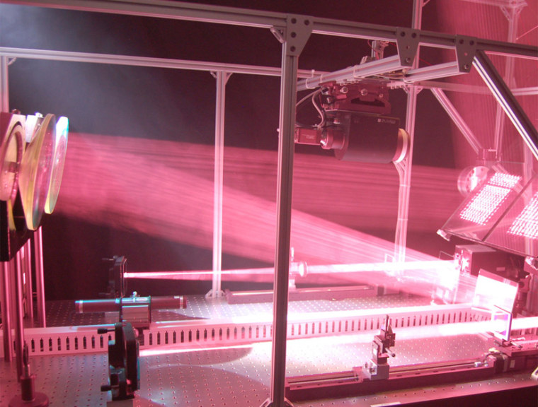 An energy laser beam generated by the LaserMotive system.