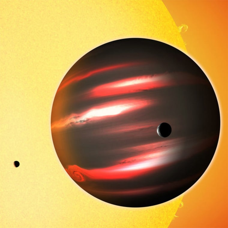 Image: Artist's conception of exoplanet TrES-2b