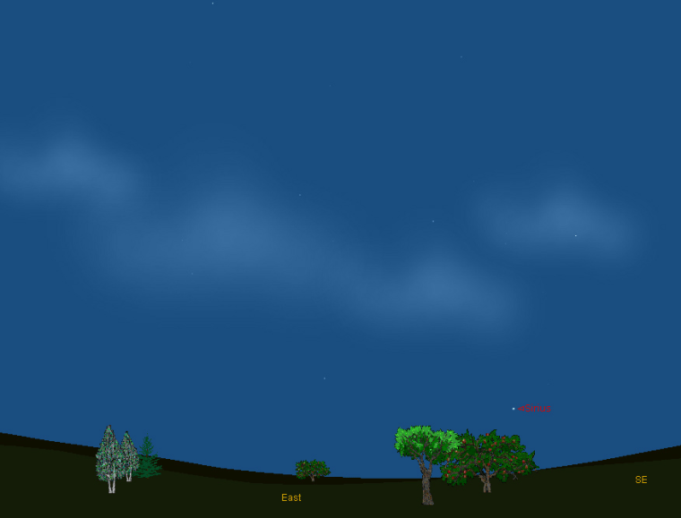 Image: Sky map showing location of Sirius