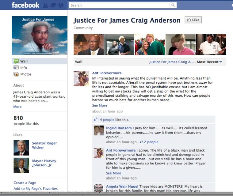 Image: Facebook page for James Craig Anderson