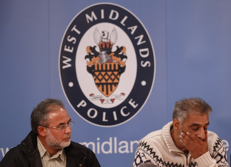 Image: Jahan and Khan speak during a news conference in Birmingham
