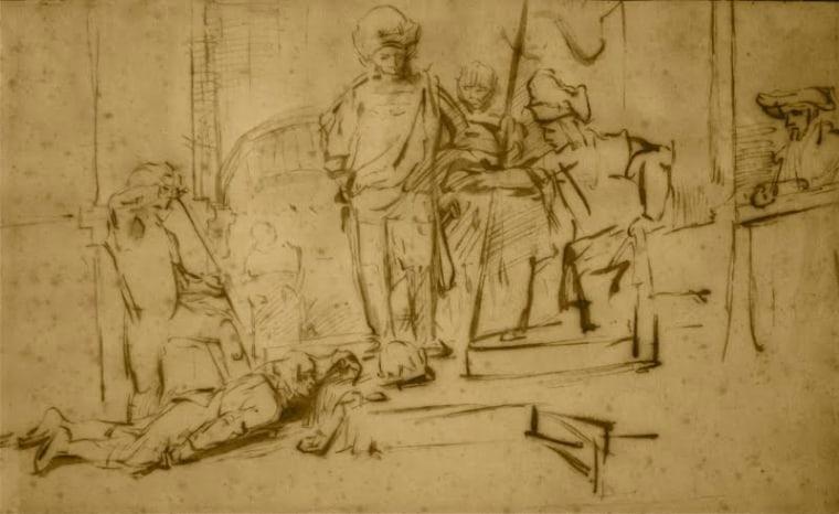 "Image: Rembrandt's \""The Judgement\"""