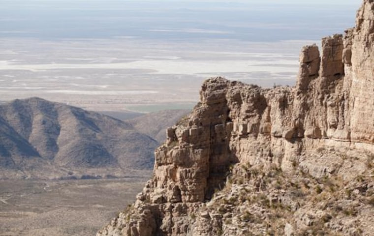 The Guadalupe Mountains in West Texas oncewere the site of the Permian Reef, a massive reef that grew in shallow tropical waters 265 million years ago.