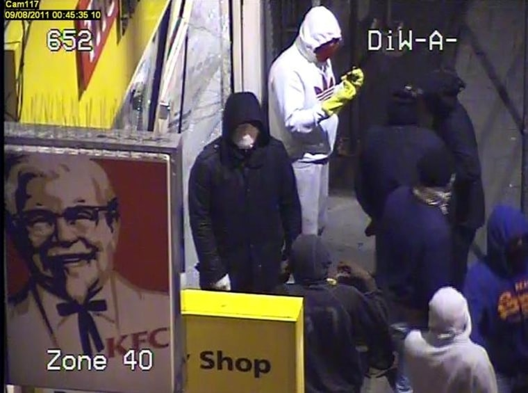 Image: CCTV camera image from London riot