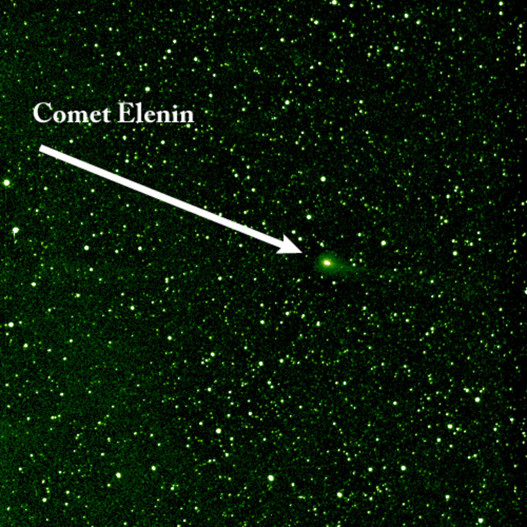 Comet Elenin as seen by NASA's STEREO spacecraft on Aug. 6.
