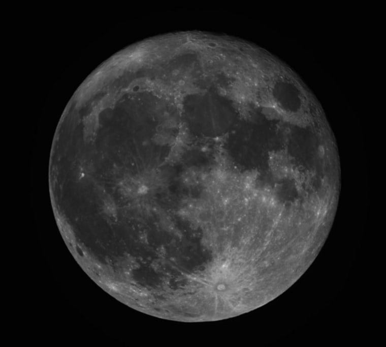 Skywatcher Phillip Jones took this photo of a full moon on March 19 in Frisco, Texas.