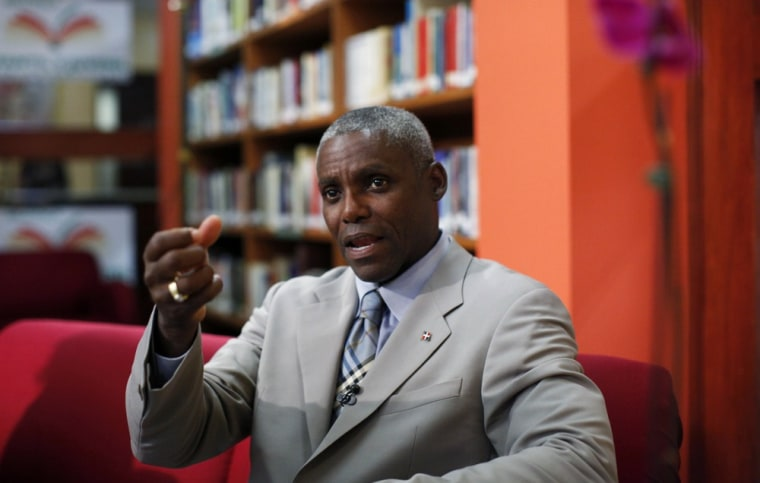 Image: Retired American track and field star Carl Lewis
