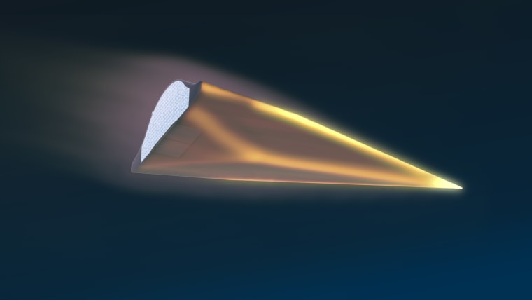 Image: Artist's illustration of DARPA's Hypersonic Test Vehicle-2
