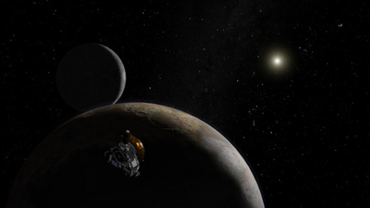 Launched in early 2006, the outward bound New Horizons spacecraft will throw new light on distant Pluto and its moon, Charon, as well as Kuiper Belt objects.