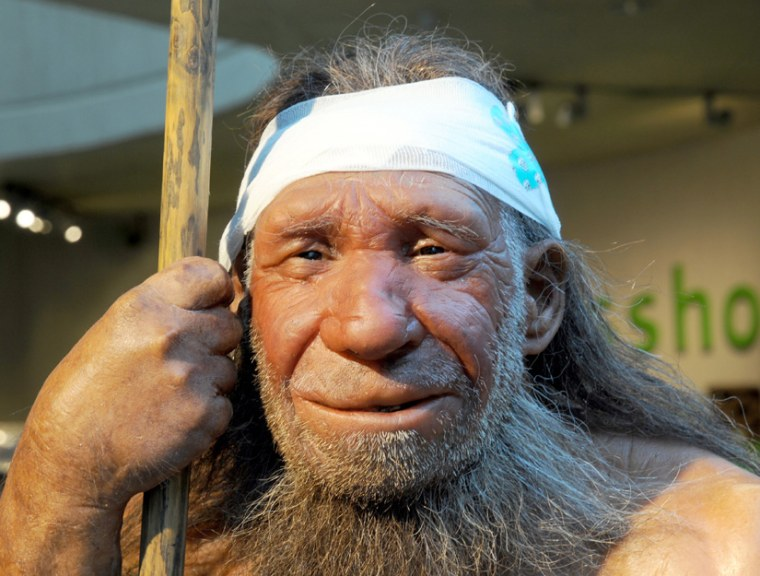 Having a Neanderthal for a boyfriend wasn't always a bad thing. This is replica of an old Neanderthal man at the Neanderthal Museum in Mettmann,Germany.