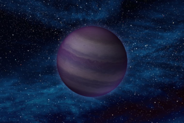 An artist's conception shows what a Y dwarf might look like. Y dwarfs are the coldest star-like bodies known— their temperaturescan be even cooler than a human body.