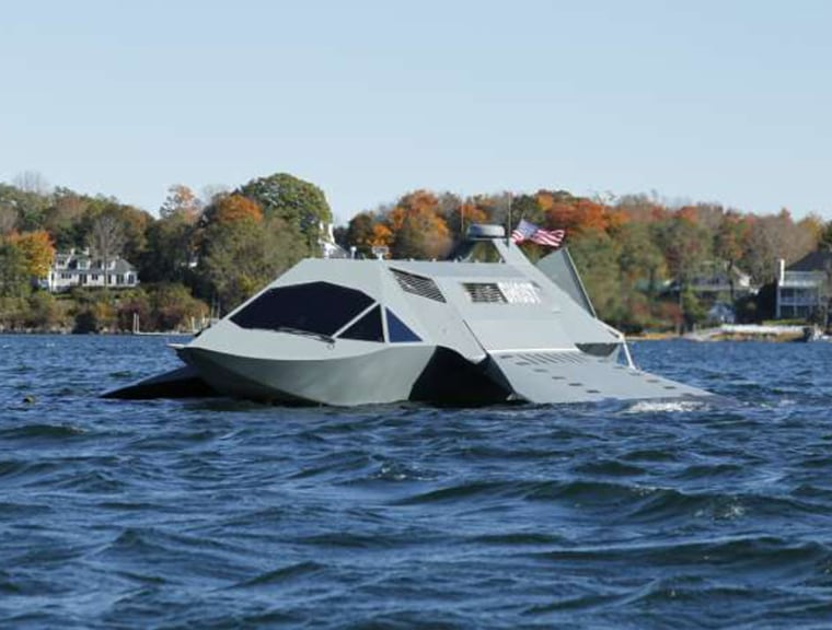 The Ghost is designed to move very quickly and stealthily through water by generating a layer of gas around its underwater surfaces.