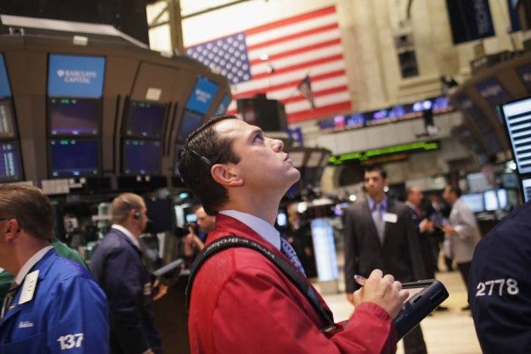 Image: Wall Street Re-Opens One Day After Hurricane Irene Hits New York