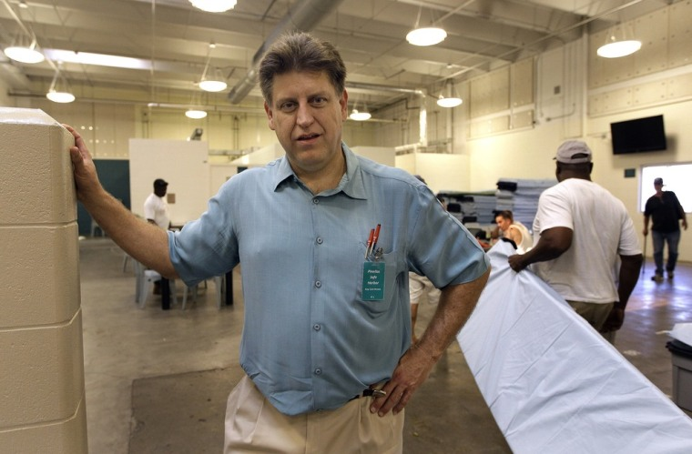 Image: Robert Marbut at the Pinellas Safe Harbor in Clearwater, Fla., a 500-bed shelter for homeless people