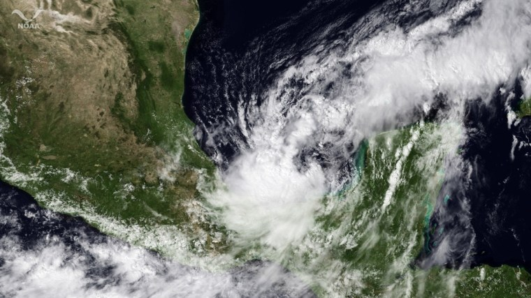 Image: Tropical Storm Nate passes near the Yucatan Peninsula on September 8,