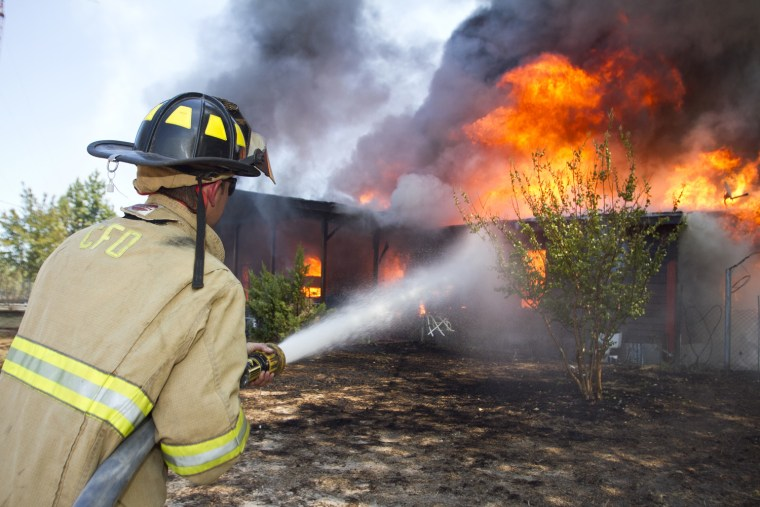 Image: Linden, Texas fire