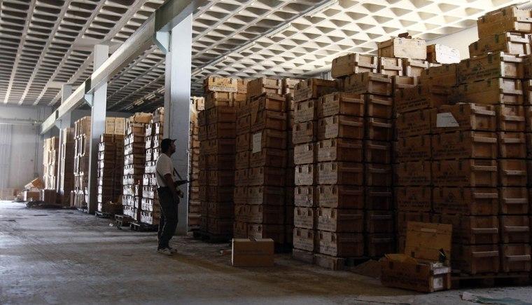 Image: Munition warehouse near Tripoli, Libya