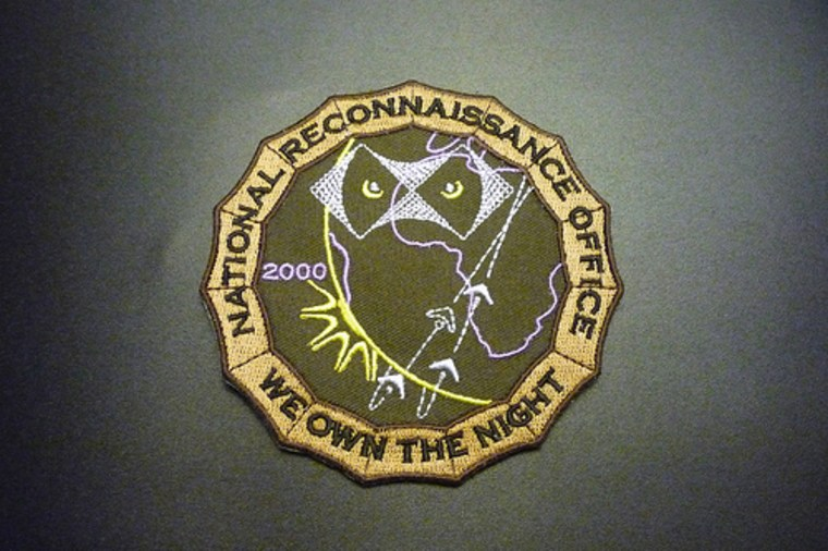 Clandestine satellites that reveal targets even in the night is the claim of the National Reconnaissance Office— as evidenced by this NRO patch.
