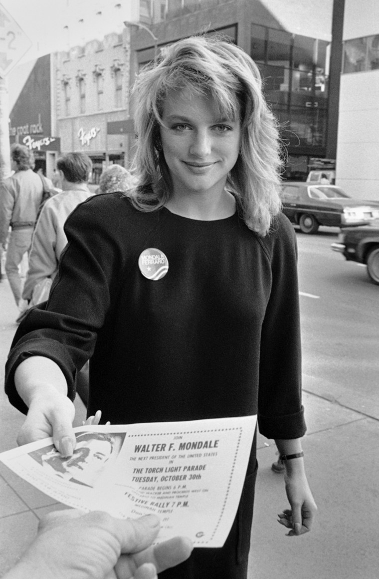 Image: Eleanor Mondale, daughter of Walter Mondale, in 1984