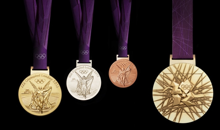 Image: London 2012 Olympic Games medals are seen in this handout photograph received in London