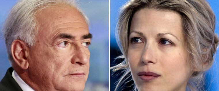 Image: A combo of separate images of Dominique Strauss-Kahn and Tristane Banon.