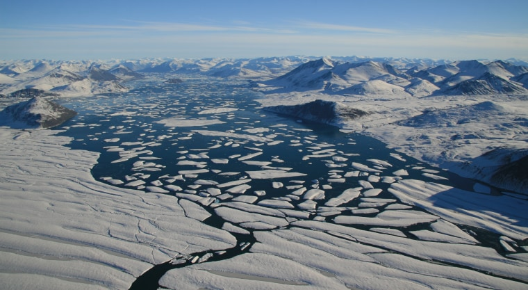 Image: Ward Hunt Ice Shelf breaking up.